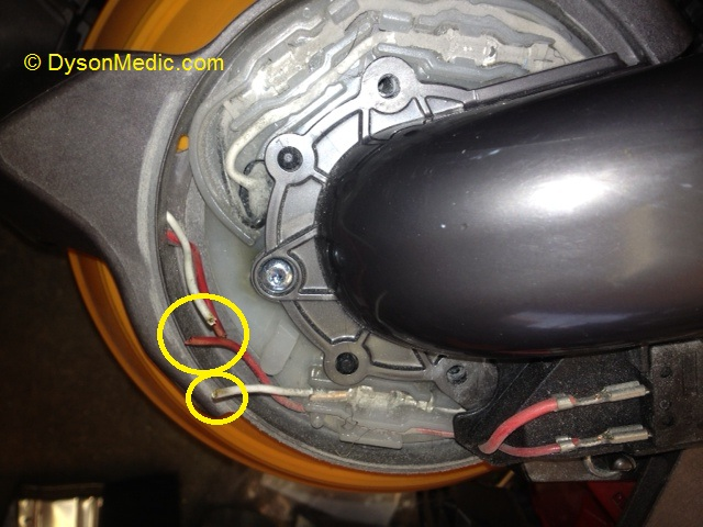 dc no power to cleaner head dc25 wiring fault