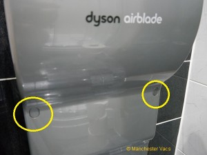 Remove front Dyson Airblade